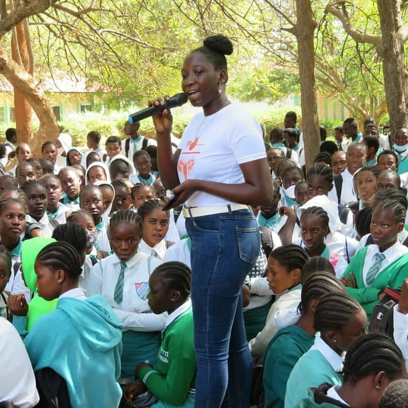 I was happy and grateful to go back to the school that instilled in me the confidence to speak up. We at PPA Gambia had the opportunity to talk to students about period poverty, menstrual equity and breaking period shame. #education #Gambia #period #periodpoverty #taboo #africa