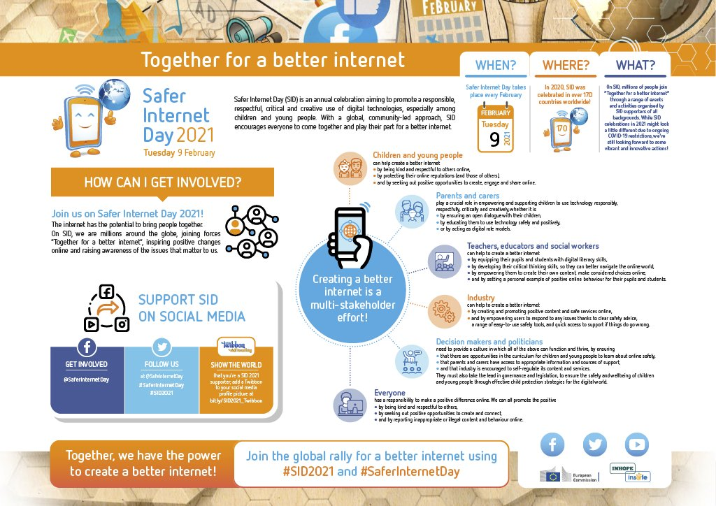 ✅ What is #SaferInternetDay?  ✅ What does it stand for?  ✅ How can we all play our part for a better internet?  Find answers to all your questions in our infographic – view it in full resolution:   And get ready for #SID2022 on Tuesday, 8 February 2022!