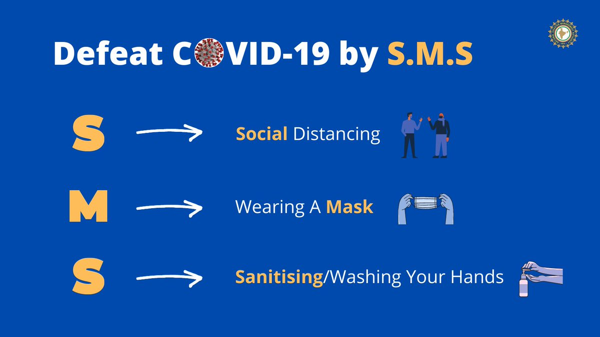 #COVID19 | Let's #Unite2FightCorona and defeat #coronavirus by SMS 👇   S 👉 Social Distancing  M 👉 Wearing a #Mask S 👉 Sanitising/Washing your hands