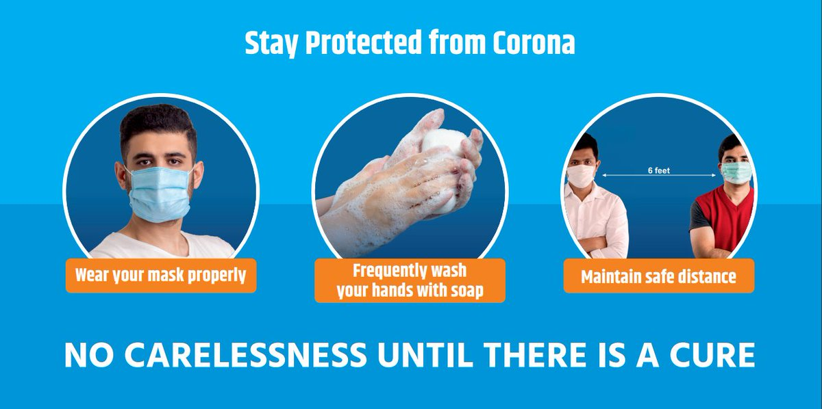 #COVID19 | Here's your checklist to #staysafe from #coronavirus👇   ✅ Wear your #mask properly  ✅ Frequently wash your hands ✅ Maintain safe distance   #Unite2FightCorona