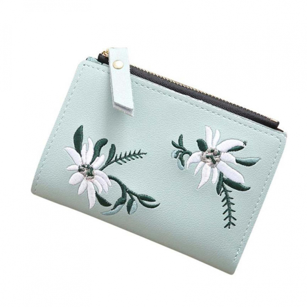Floral Embroidered Short Wallet #adventure #travel