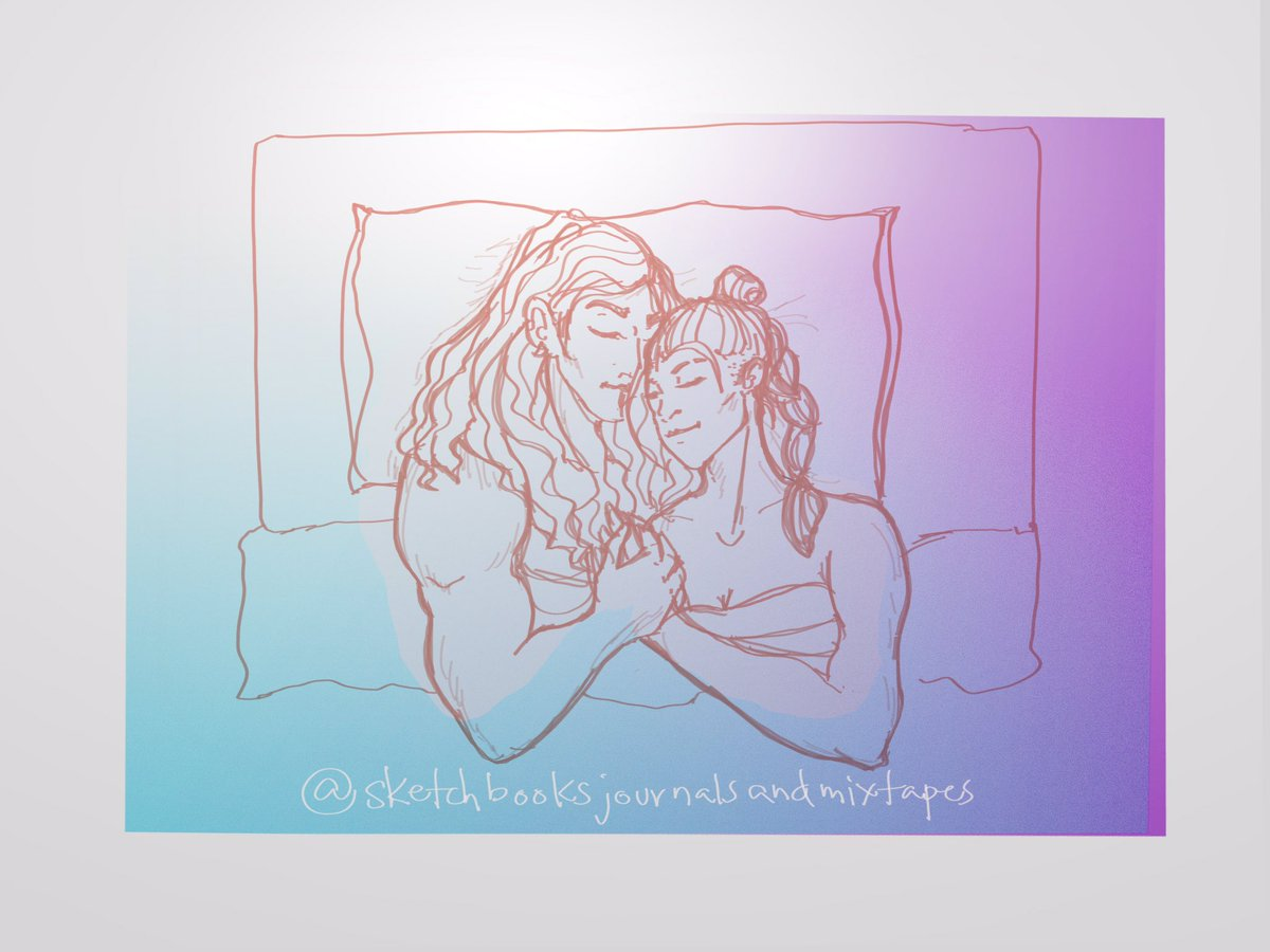 POV: You're the mirror and they're a-schnuggling.   #beauyasha #criticalrole #criticalrolefanart #dnd