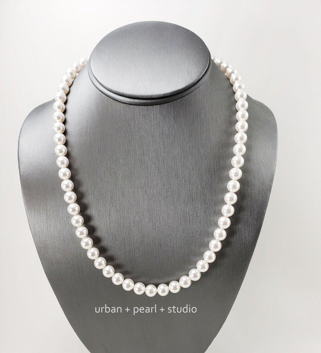 Men's Pearl Necklace 20 Inch Swarovski Pearl Choker Necklace For Guys 24 Inch Harry Pearls  #pearlnecklace #handmade #lovejewelry #giftsforher #etsy #handmadejewelry