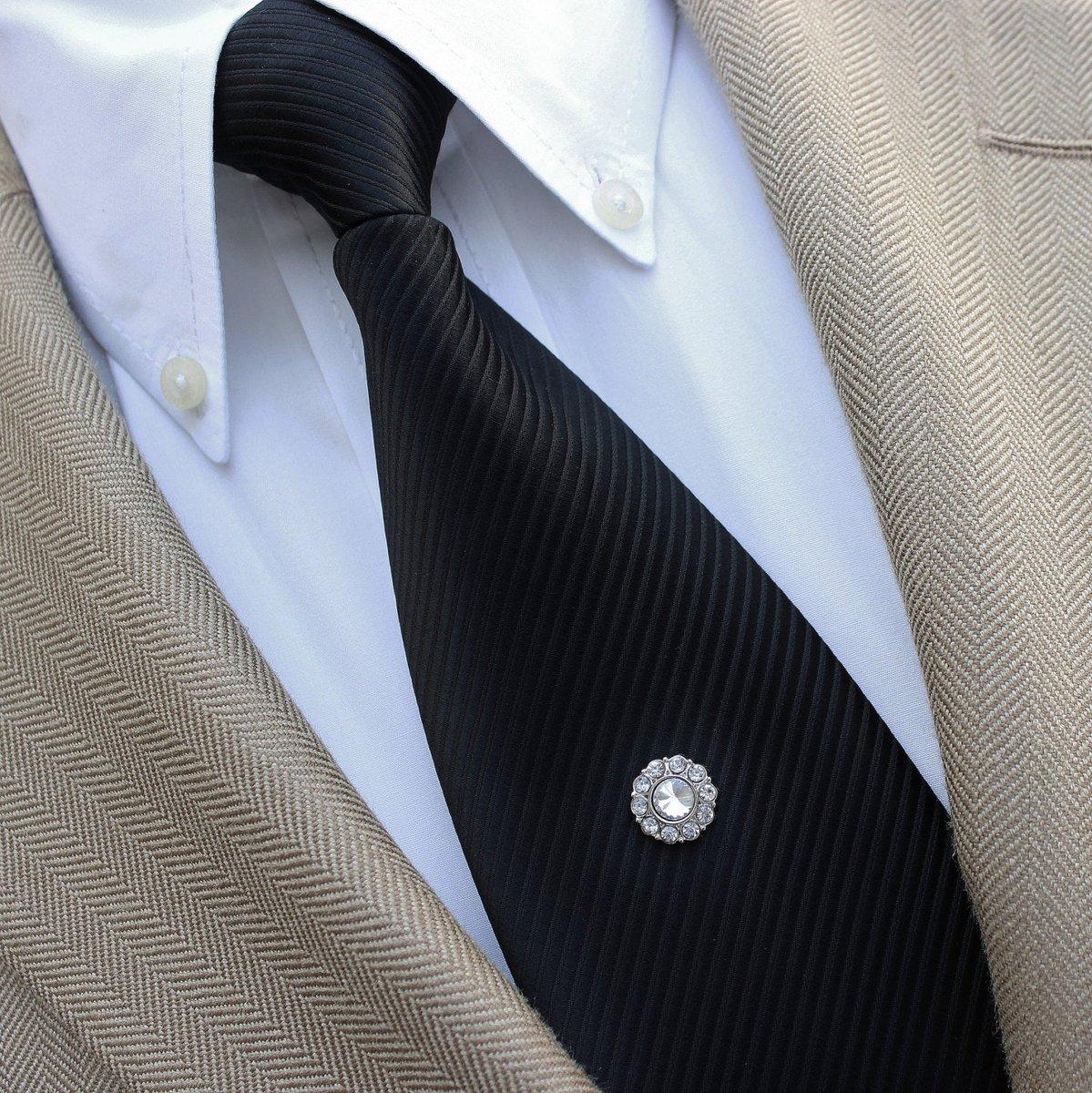 Mens Tie Tacks, Wedding Tie Clip, Rhinestone Silver Tie Tack for the Groom, Mens Tie Tack, Groomsman Gift, Groomsmen Gift, Grooms Tie Tack  #etsyshop #shopsmall #smallbiz #etsy #style #gifts #shopping #ecommerce