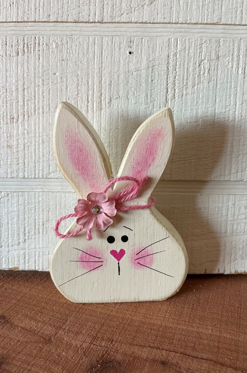 Excited to share the latest addition to my #etsy shop: Wood Easter Bunny, Wooden Bunny Rabbit, Wood Easter Decor, Easter Tiered Tray Decor, Easter Wood Decor, Spring Tiered Tray  #white #easter #tieredtraydecor #wooddecorations #shelfsitter #wood