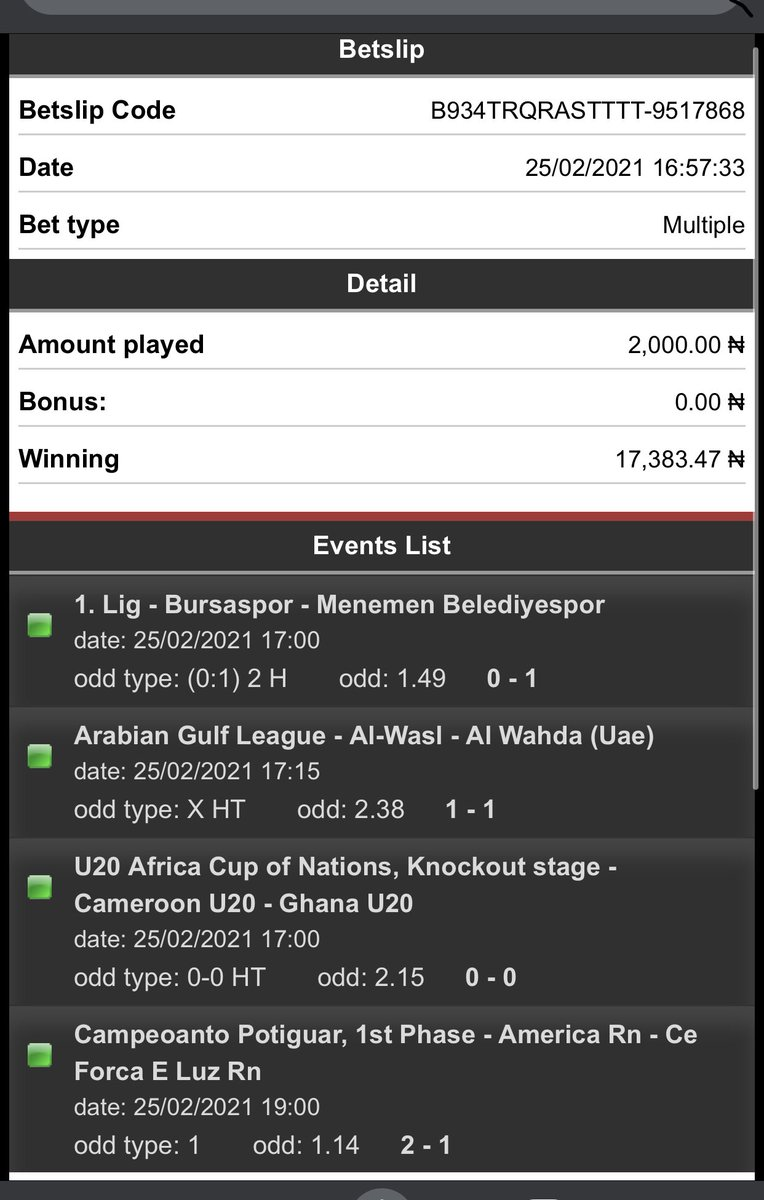 Game won!!! I always wonder how you source these odds out. Your handle is the best i have seen for fixed games @fixedGolden1 . Keep the good work going  #FridayFeeling #LifeSupport #EricaBrandsDay #Zamfara #showreelshareday #WandaVison #GalaxyS21 #RIPTwitter #lautech #RicHassani