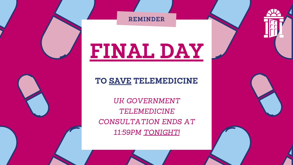 "Today is the last day to use YOUR voice to save #abortiontelemedicine.  We designed our telemedicine pathway with guidance from the @NICEComms, the @RCObsGyn and the Royal College of Midwives. Our team won a #TeamOfTheYear @NursingTimes award for ""Innovation during the pandemic""."