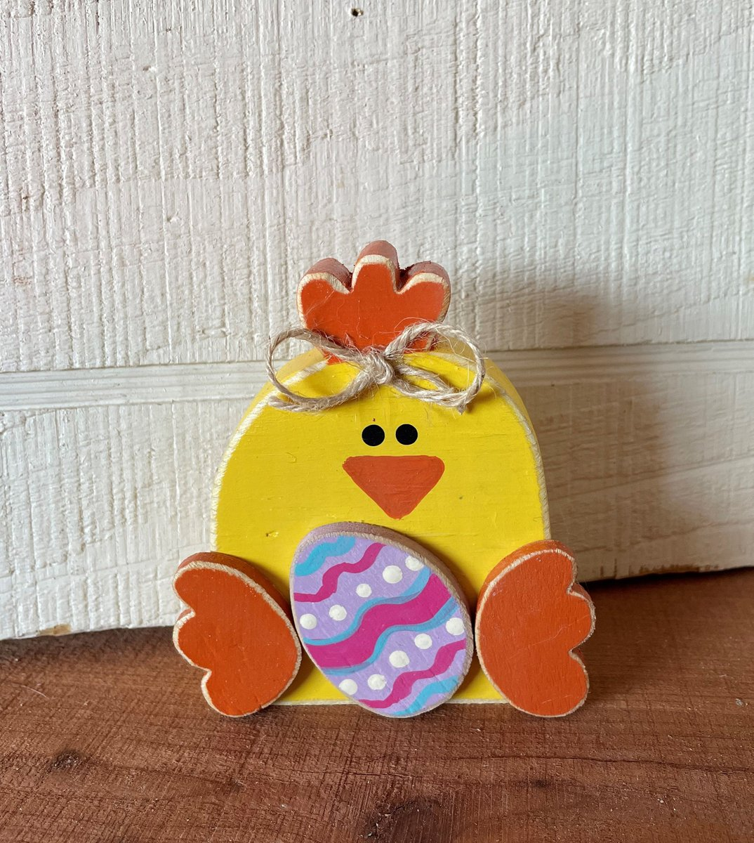 Excited to share the latest addition to my #etsy shop: Wood Easter Chick, Wooden Chicken, Wood Easter Decor, Easter Tiered Tray Decor, Easter Wood Decor, Spring Wood Decor, Spring Chick  #yellow #easter #orange #tieredtraydecor #wooddecorations #