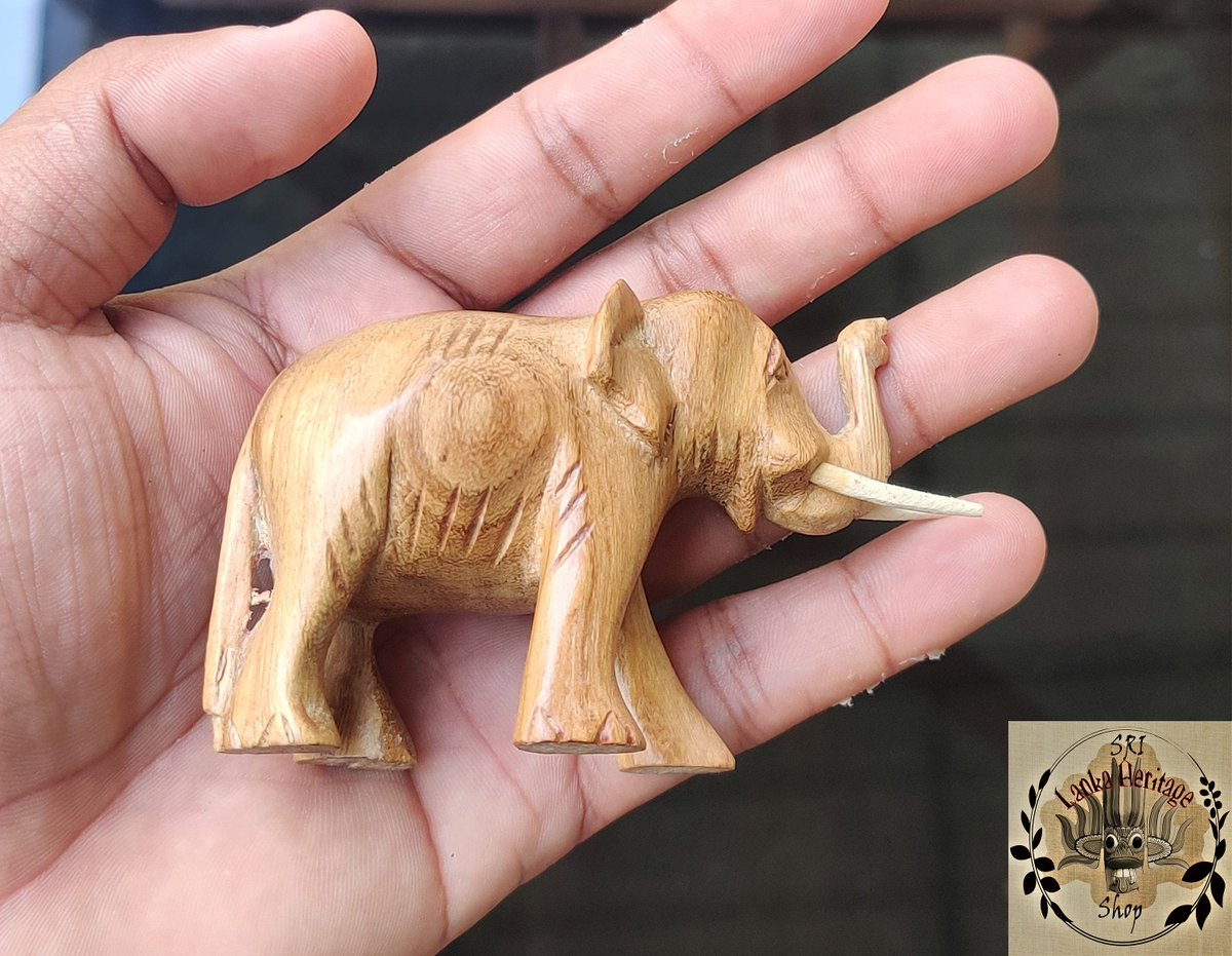 Excited to share the latest addition to my #etsy shop: Hand carved Wooden Elephant, Hand carving, Home Decor, Wooden craft, Gift Statue, Elephant sculpture, Elephant tusks, Figurine, Ornament  #artdeco #handcarve #carvings #tusks #woodenelephant