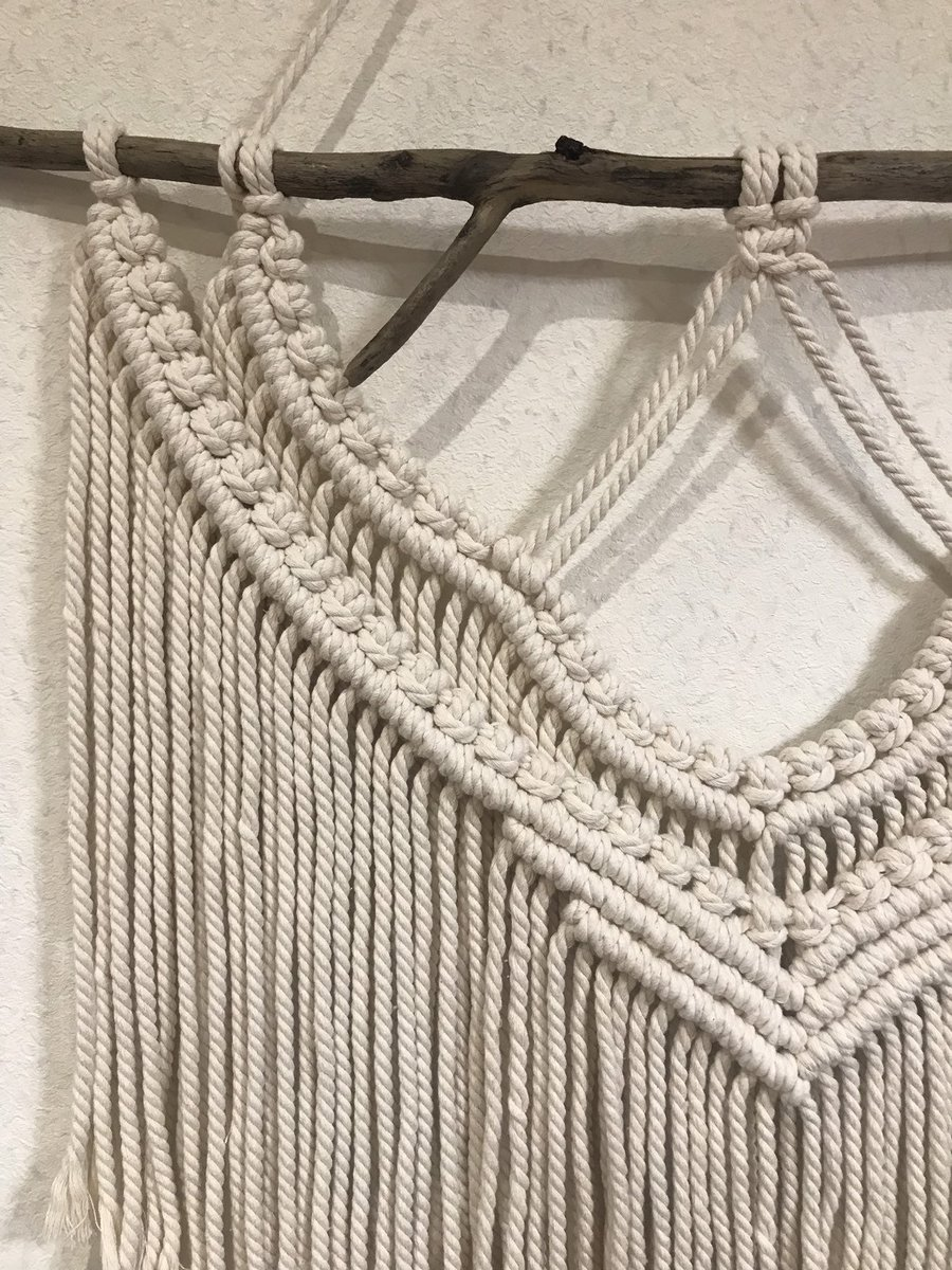 """Thanks for the kind words! ★★★★★ """"Wonderful communication. Turned out beautiful!"""" Daniel F.  #etsy #beige #macrame #wallinterior #wallhangings #bohemianwalldecor #bohomacrame #wovenwallhanging #bedroomwalldecor #trendywalldecor"""