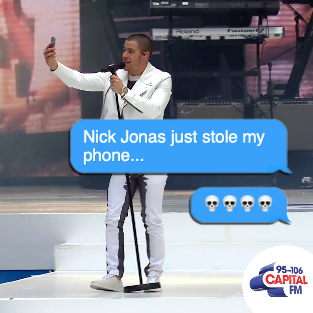 .@nickjonas has just stolen your phone. what do you hope he films? 📱