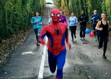 Unless you've been bitten by a radioactive spider it's very unlikely you'll wake up #SaturdayMorning with a great physique & mental agility. Try #running instead, it has the same benefits & you don't have to wear the dopey suit...unless you want to.  #FridayVibes #friyay #fitness