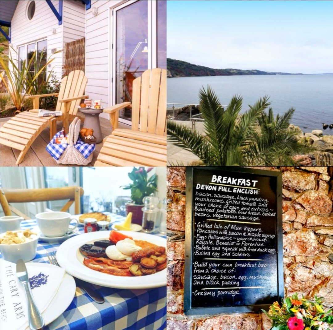 """""""All happiness depends on a leisurely breakfast... """" 😍 Traditional breakfast in the Inn or continental on beach hut sun deck? 🌊😎 @CaryArms @VisitDevon @visitsouthdevon @coolplacesuk @Cool_Stays @GoodHotelGuide @BBCBreakfast @BoutiqueBkfast #breakfast #summer #holiday"""