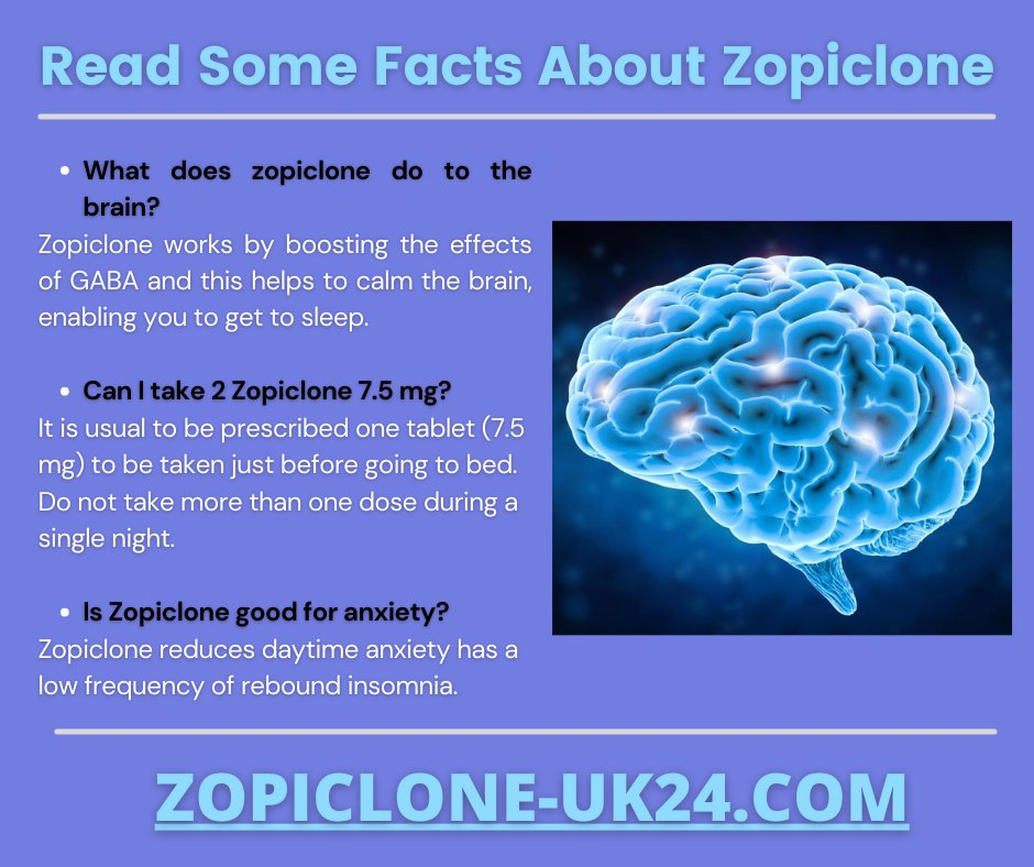 Important Facts About Zopiclone. #health #healthylifestyle #sleeping #sleepingdisorder #sleepiness #healthyliving #fitness #nutrition