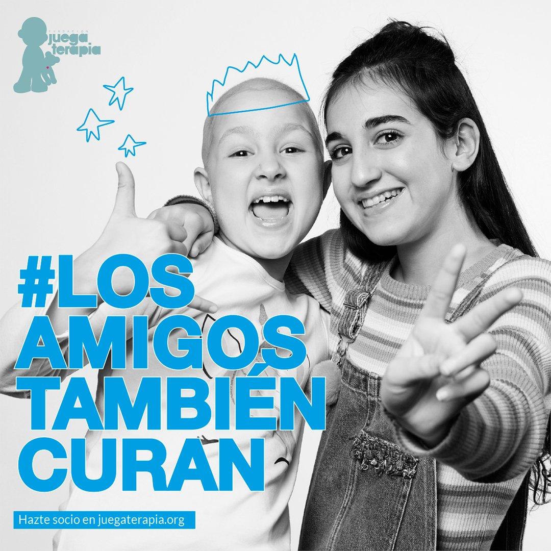 ...Y miman, escuchan, sostienen, alegran, abrazan ... #LosAmigosTambiénCuran
