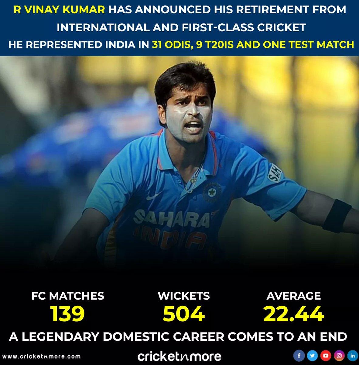 Congratulations on a wonderful career @Vinay_Kumar_R . . #cricket #indiancricket #teamindia #vinaykumar #karnataka #ranjitrophy #vijayhazaretrophy #syedmushtaqalitrophy