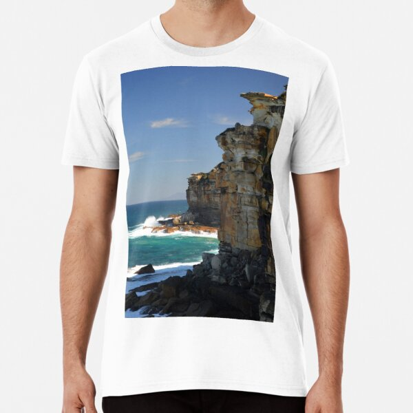 'Pacific Ocean Cliffs At Providential Point Lookout NSW' Premium T-Shirt   #ocean #vacation #beach #summer #australia #australian #cliffs #pacificocean #nsw