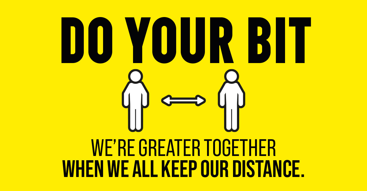 We should all be making sure we #StayHome right now.  When you do go out whenever possible keep at least two metres from other people. ↔️  This makes it harder for the virus to spread and help to ease restrictions and save lives.  #DoYourBit