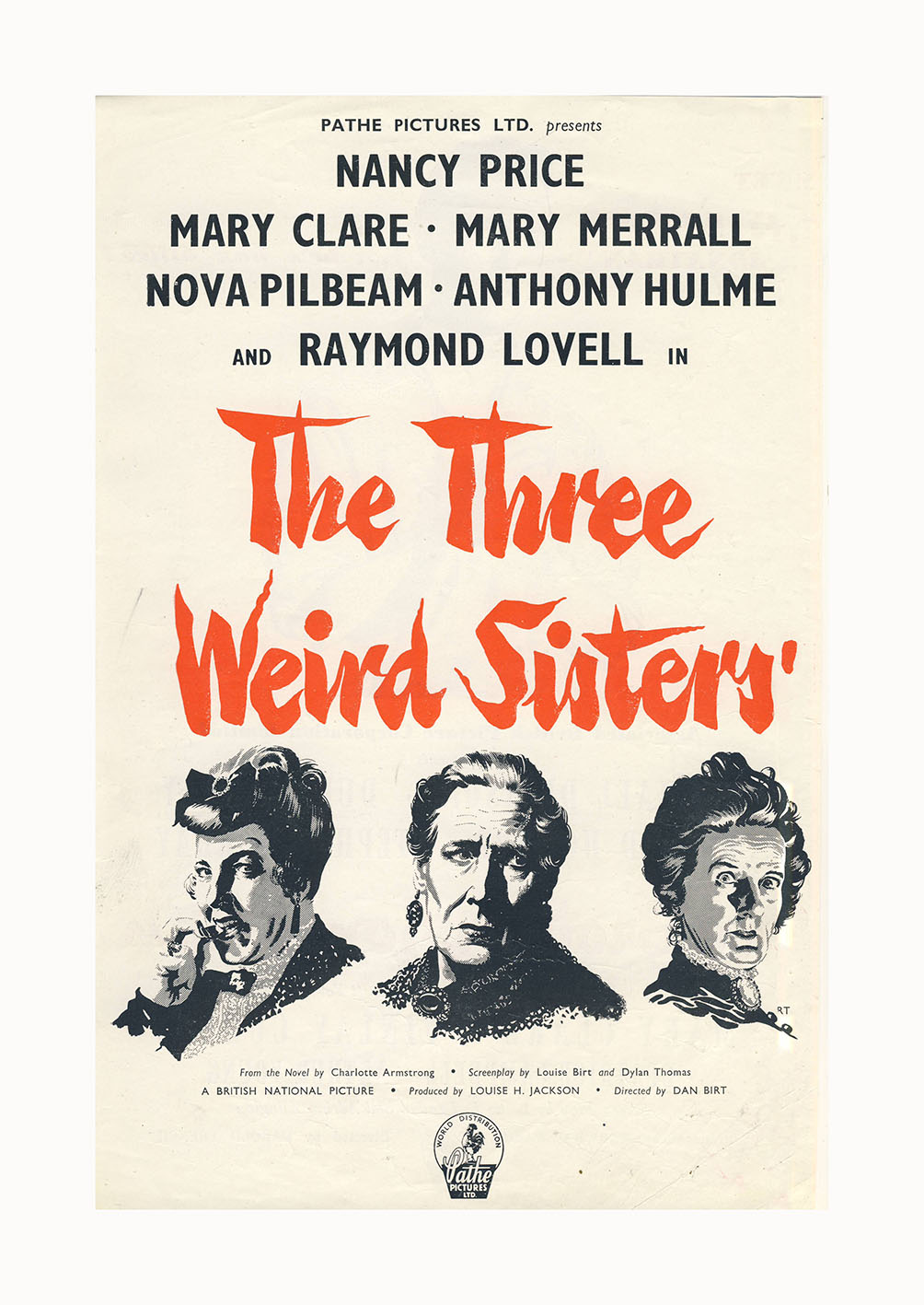 The Three Weird Sisters (1948) UK poster