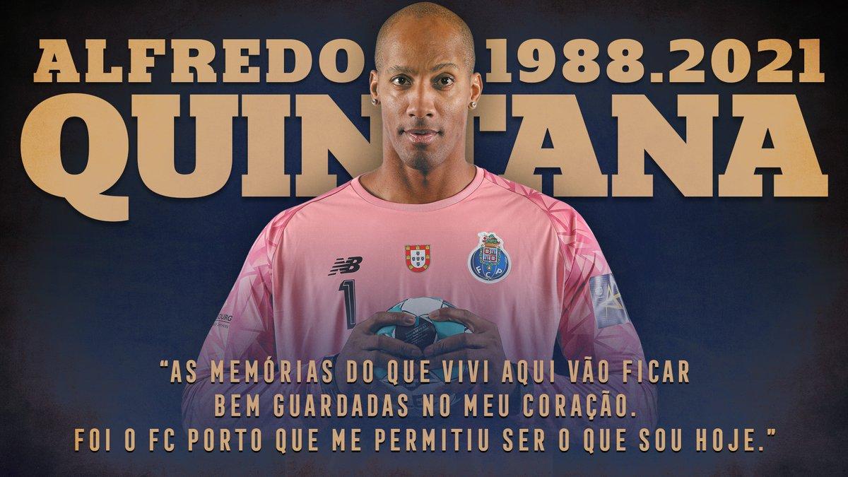 A mensagem que nunca pensámos partilhar: o nosso querido Alfredo Quintana partiu hoje. Serás para sempre lembrado como um dos nossos. Um verdadeiro Dragão. Descansa em paz, Eterno Quintana!  🔵⚪  #FCPorto #FCPortoSports https://t.co/3bEf1714gO