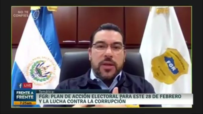 Fiscal Melara: No habrá fraude, no existe posibilidad de fraude