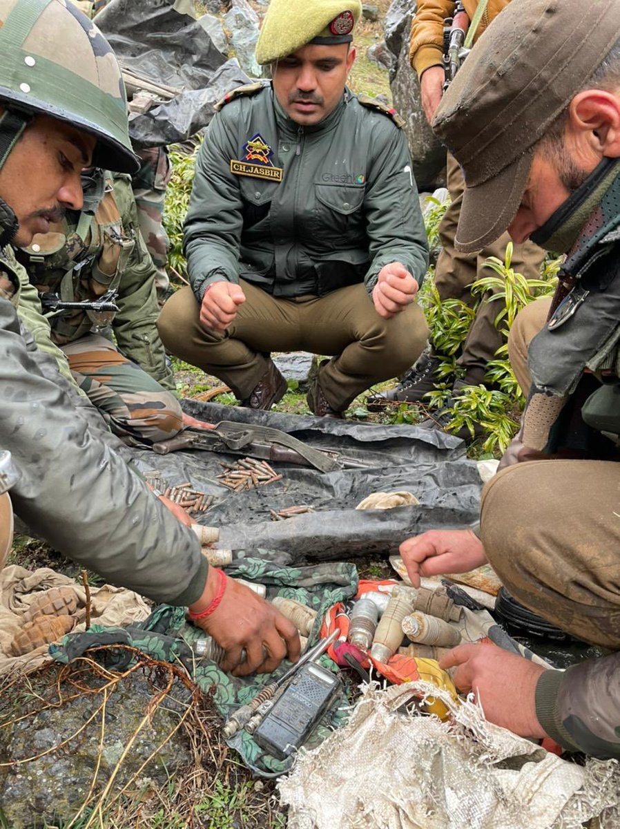 Terrorist Hideout Busted in #JammuAndKashmir's #Reasi District, Huge Cache of Arms & Ammunition Recovered. @airnewsalerts