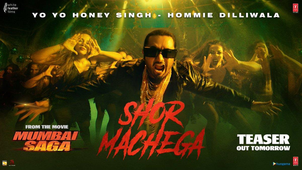 Aaj macha hai #MumbaiSaga Trailer ka Shor #ShorMachega on 28th February once more!!  @TheJohnAbraham @emraanhashmi @_SanjayGupta #BhushanKumar @Tseries #WhiteFeatherFilms @asliyoyo #HommieDilliwala #MihirGulati @MsKajalAggarwal @prateikbabbar @manjrekarmahesh