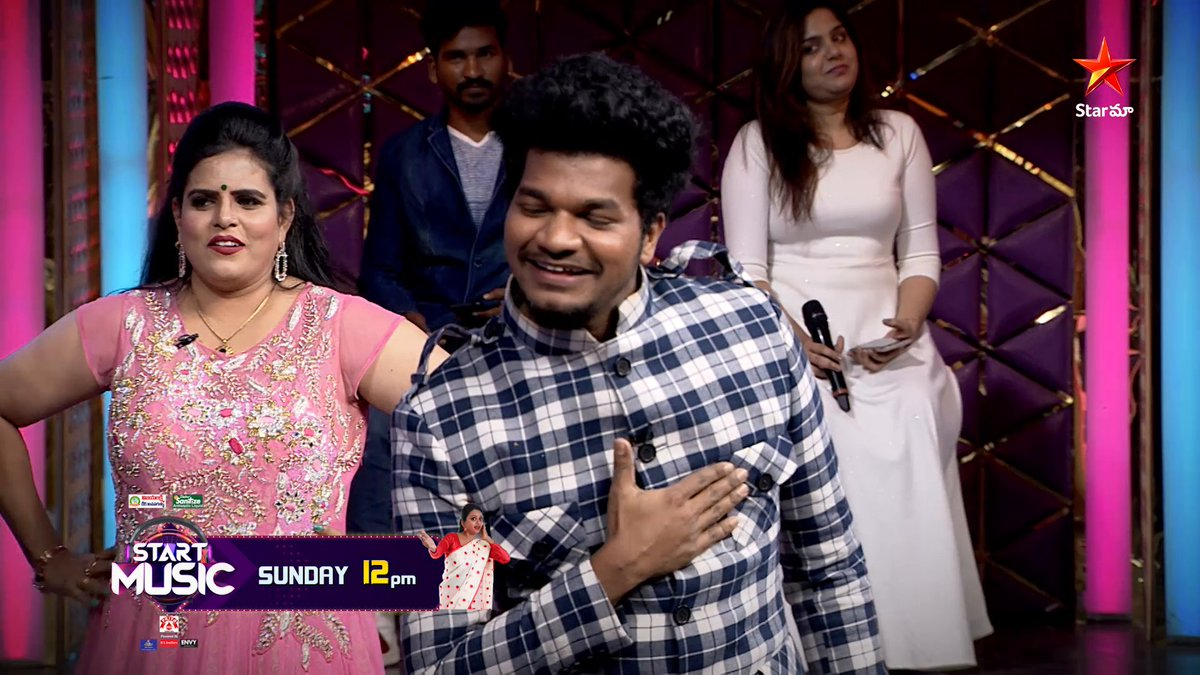 #Avinash team vs #AmmaRajasekhar team...Catch the super fun episode of  #StartMusic this Sunday at 12 PM on @StarMaa  #SundayFunday