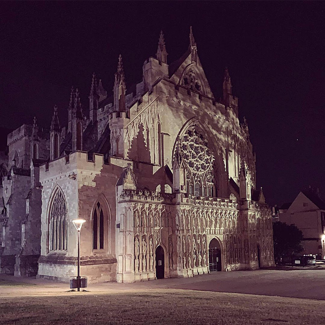 We are going on a Ghost Hunt!  A ghostly picture of #exetercathedral being the location where our book, Tiggs & The Midnight Choir is centred.   Want to know more about the story, the cathedral & the characters? Pop over to our website      #sundaymorning
