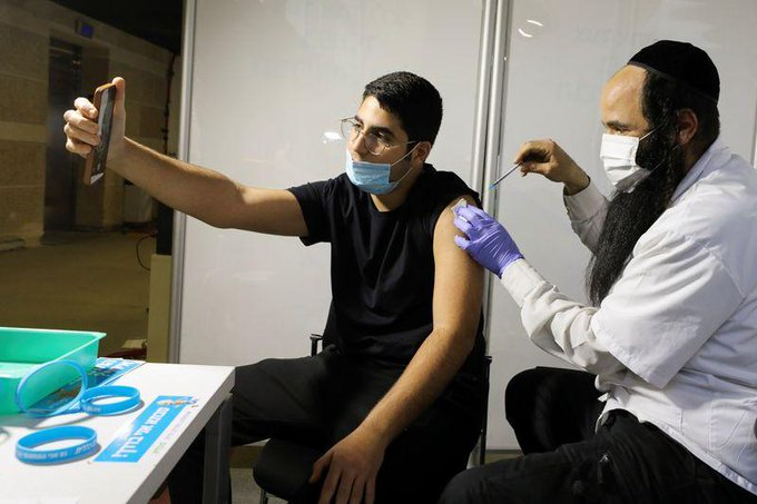 Covid-19: Israel says half its population has received one dose of vaccine Photo
