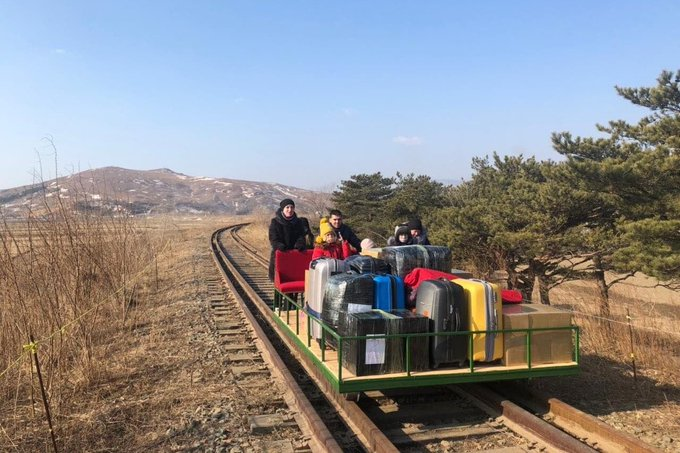 North Korea's borders are closed, but Russia says some of its citizens found a way out by trolley Photo