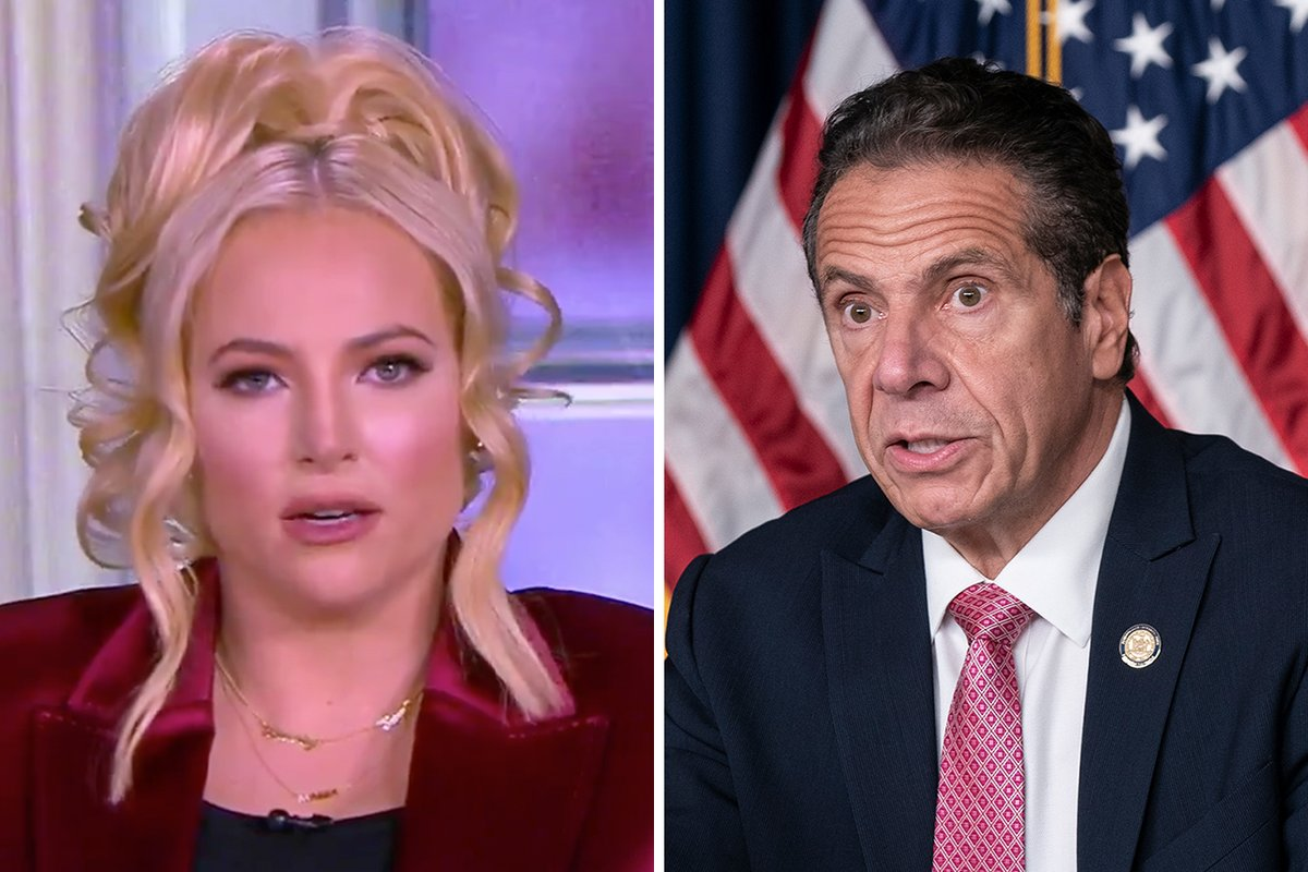 """We can't live in a country and a time where Democrats say, 'Believe all women, uh, except if your politics don't align.'"" #TheView's Meghan McCain skewered the media for remaining ""silent when it comes to any bad behavior in regards to Gov. Cuomo."""