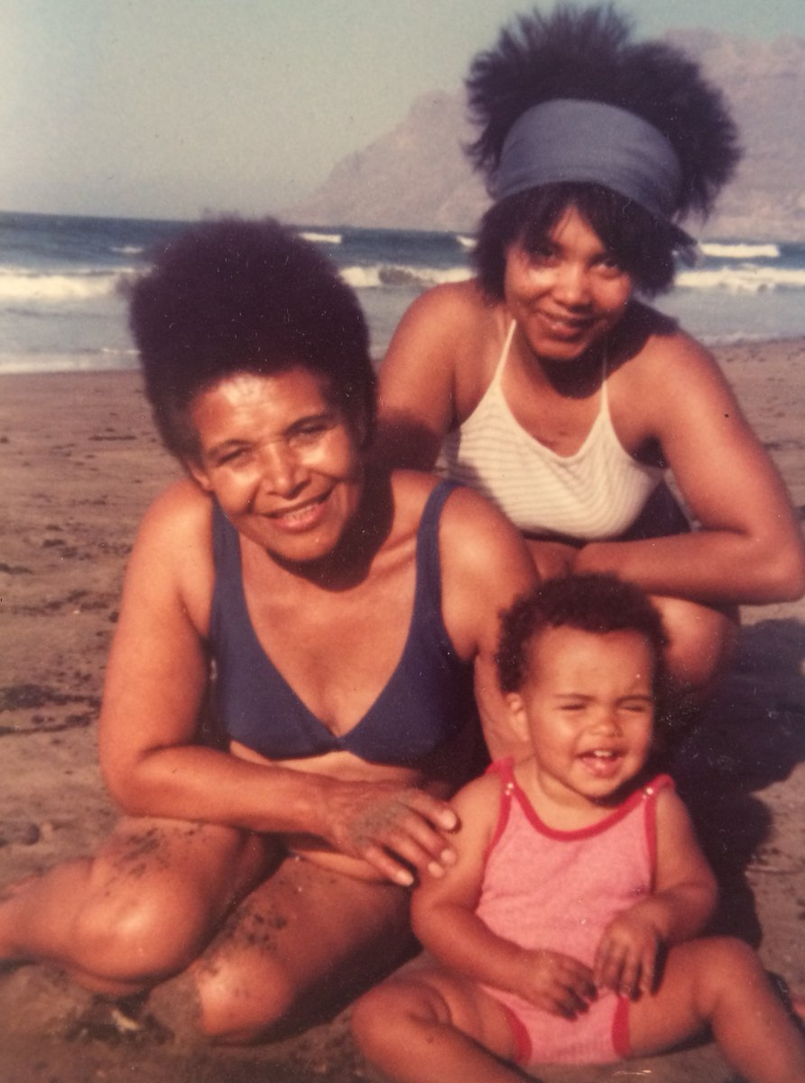 we'll co-create a liberated future in the present tense - dialling up our ancestors + dialling down the noise  today, we have 3 generations of #BlackGirlMagic - Laureen Sylvestre, @CleoSylvestre + @zoelpalmer   #AncestorFriday #blackjoy #climatebreakdown