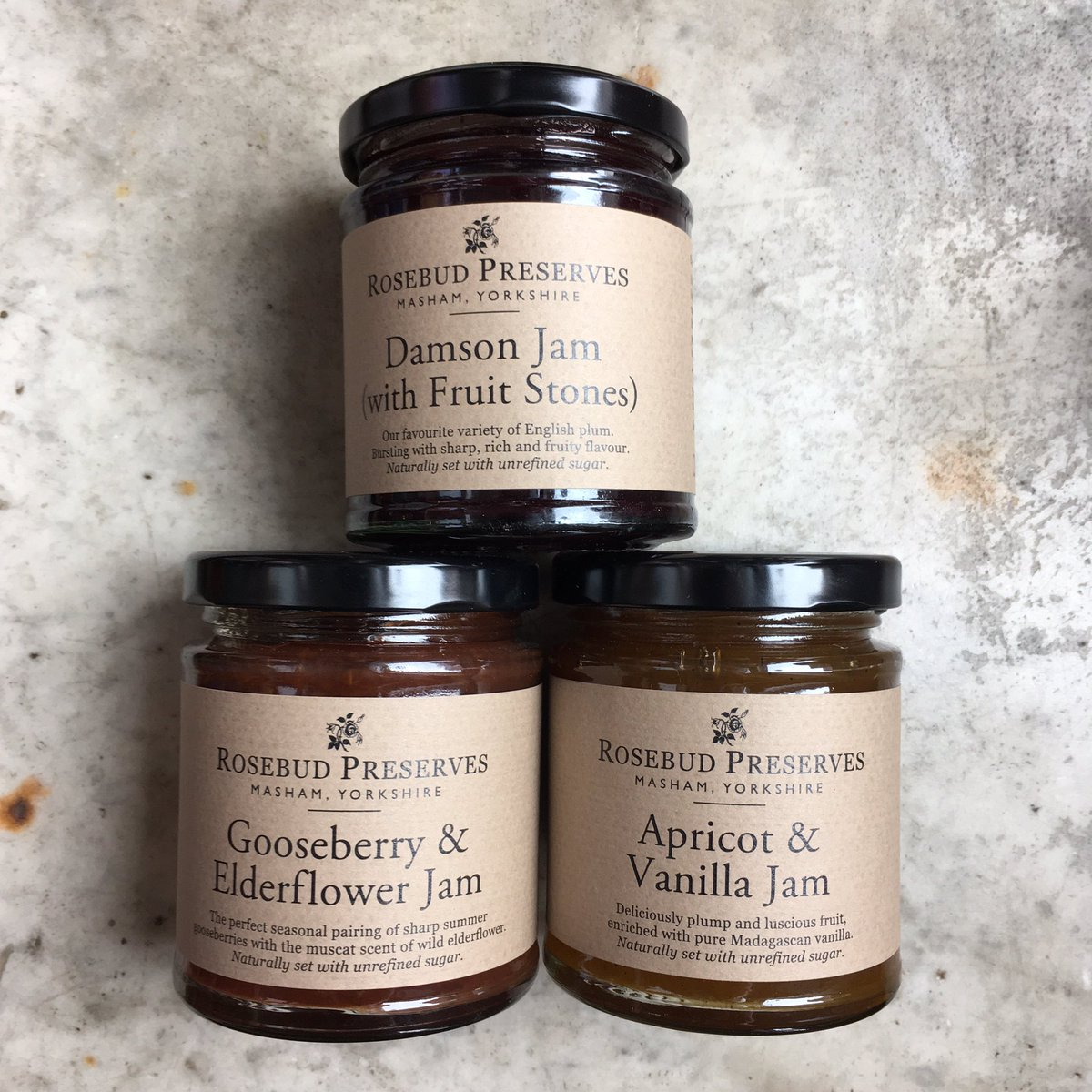 Gorgeous restocking of our jams by @preserves  #Damson #Goosberry & #Elderflower #Apricot & #Vanilla Delicious with toast, cheese and cooking & baking.  #jam #condiment #allday #cooking #baking #breakfast #lunch #sweet #toast #supportsmallbusiness #deli #Deptford #London