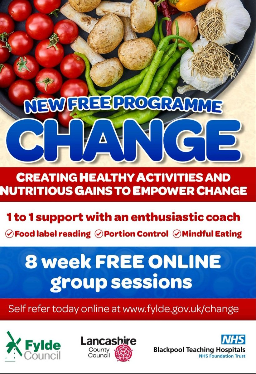 #change FREE 8 week weight management programme for residents of Fylde