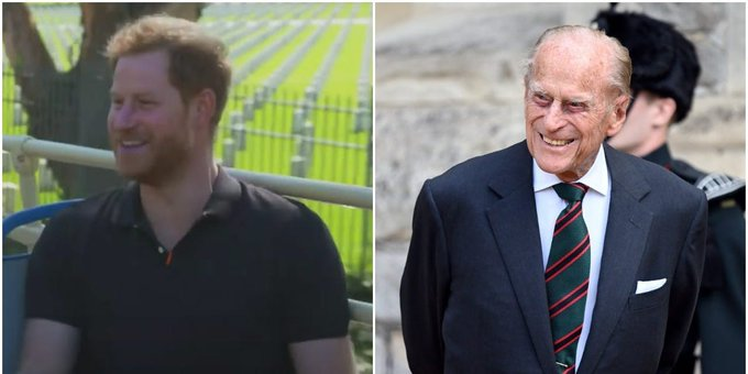 Prince Harry says Prince Philip, 99, knows how to use Zoom, but will slam shut his laptop to end calls Photo