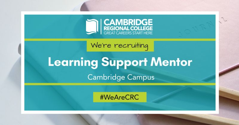 Due to a growth in student numbers, we are seeking a Learning Support Mentor to join our diverse and dynamic team in Cambridge. To learn more and apply: https://t.co/lk8nsLmyI0  #wearecrc #youmatter #collegejobs #cambridgejobs #learningsupportmentor #hiring #referafriend https://t.co/RWnusqju2m