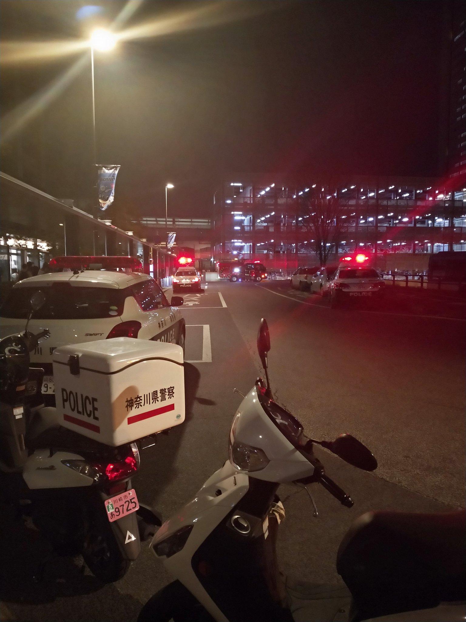 武蔵小杉駅で人身事故が起きた現場の画像