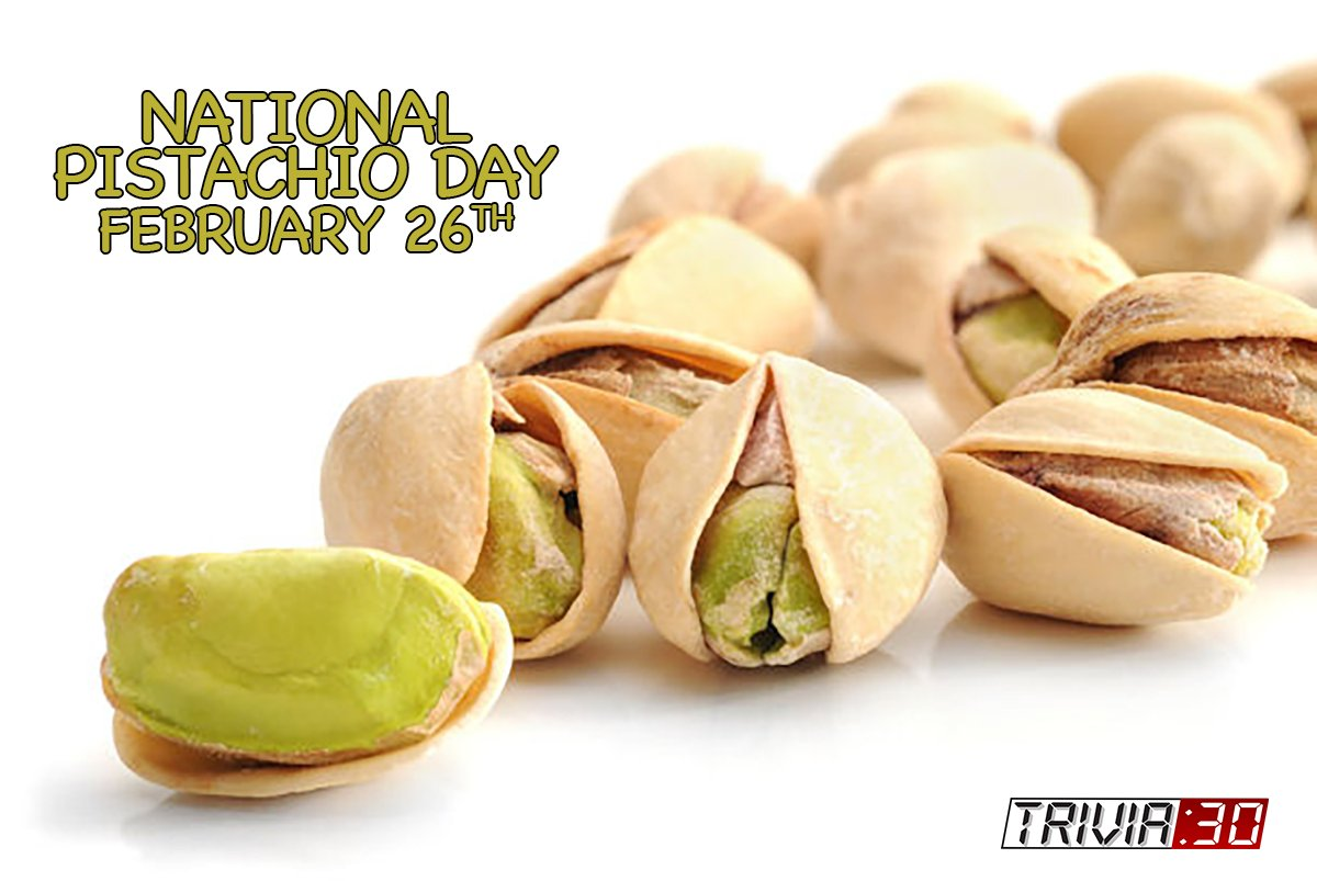 """Pistachio nuts, the red ones, cure any problem."" — Paula Danziger #trivia30 #wakeupyourbrain #NationalPistachioDay #PistachioDay #pistachio #food #almond #dessert #foodie #delicious #yummy #nuts #sweet #healthyfood #pistacchio #icecream #foodblogger #almonds #sweets"