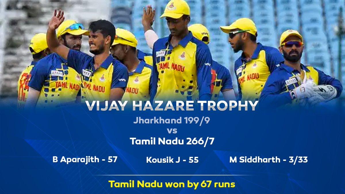 The hustle continues 💥  #VijayHazareTrophy #TNvJHA