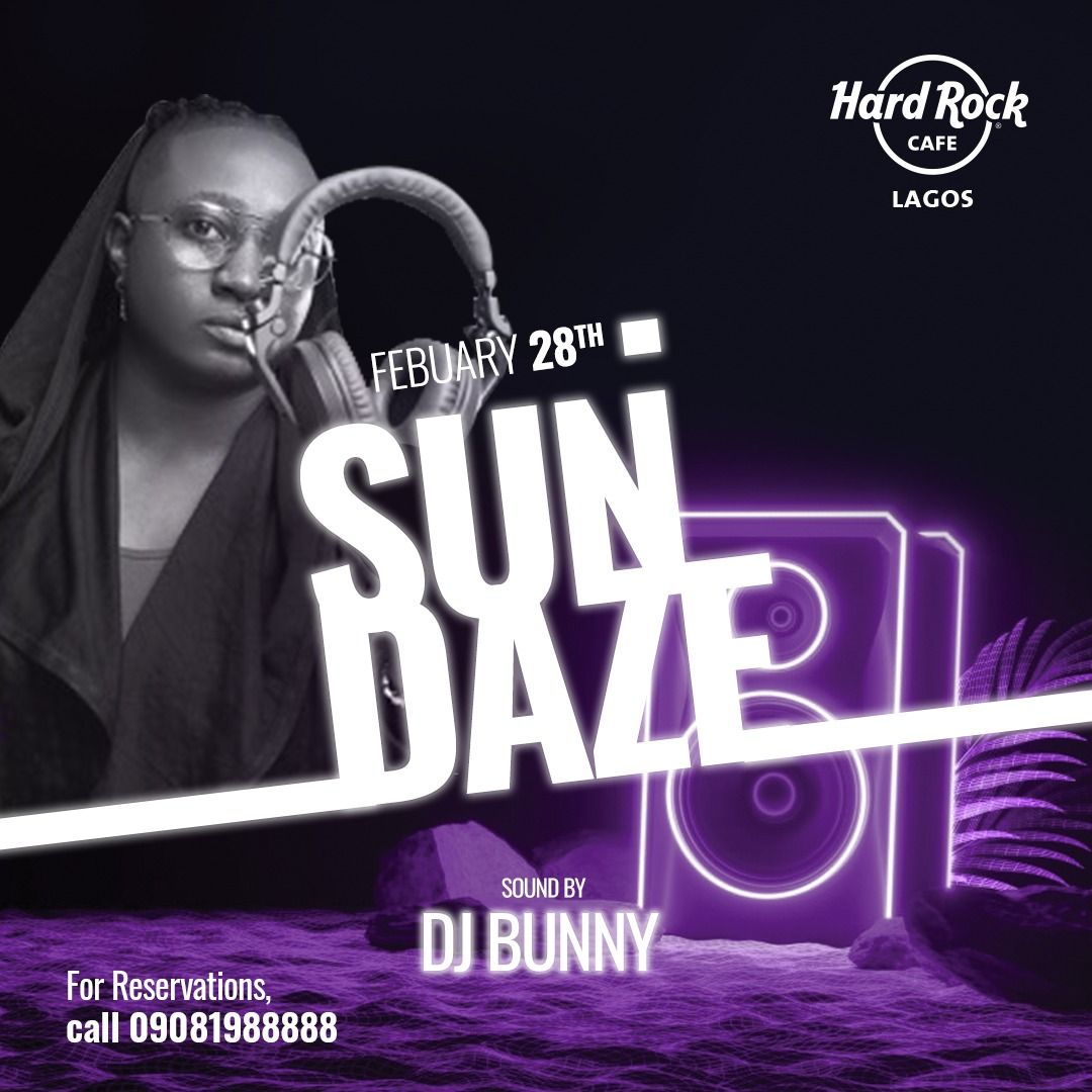 This Sunday is all about @iamdjbunny on the decks! We'll be bringing you the greatest hits while you dine with us.  #HRCLagos #LagosRestaurants #Sundaze #SundayVibes