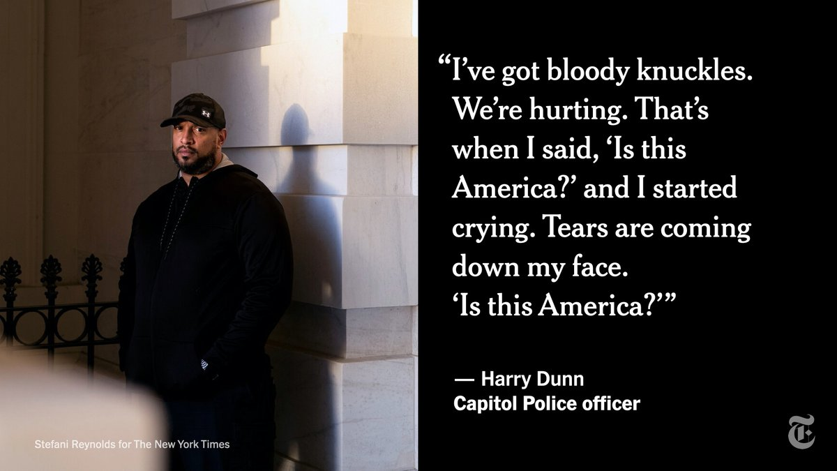 The racist slurs hurled at Harry Dunn, a Capitol Police officer, during the Jan. 6 riot were cited as evidence in the second impeachment trial of Donald Trump.  He spoke to The New York Times about the bigotry and trauma he experienced.