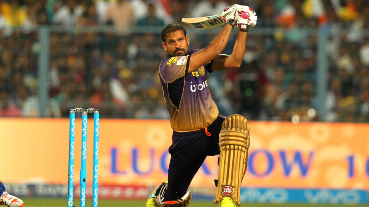 To the man who lit up the Eden Gardens with those monstrous hits over the fence, season after season!💥  We hope your retirement is a thrill-a-minute ride too @iamyusufpathan😉  @Russell12A @imkuldeep18 @Sah75official #KKR #Cricket
