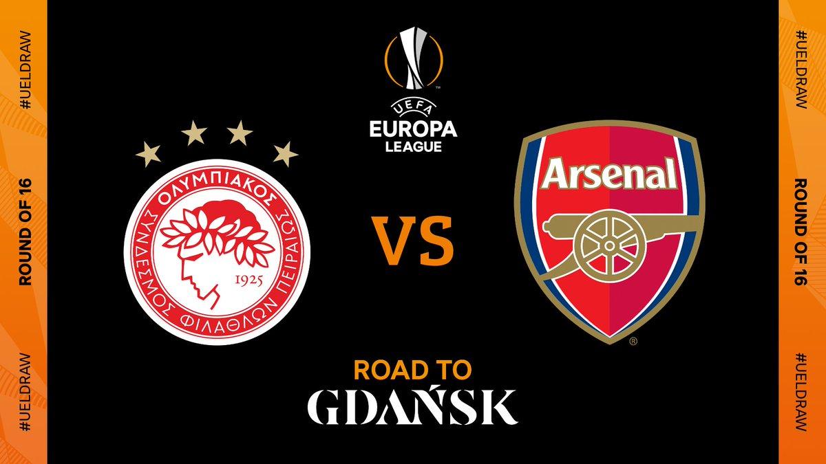 🇬🇷 Olympiacos vs Arsenal 🏴  #UELdraw