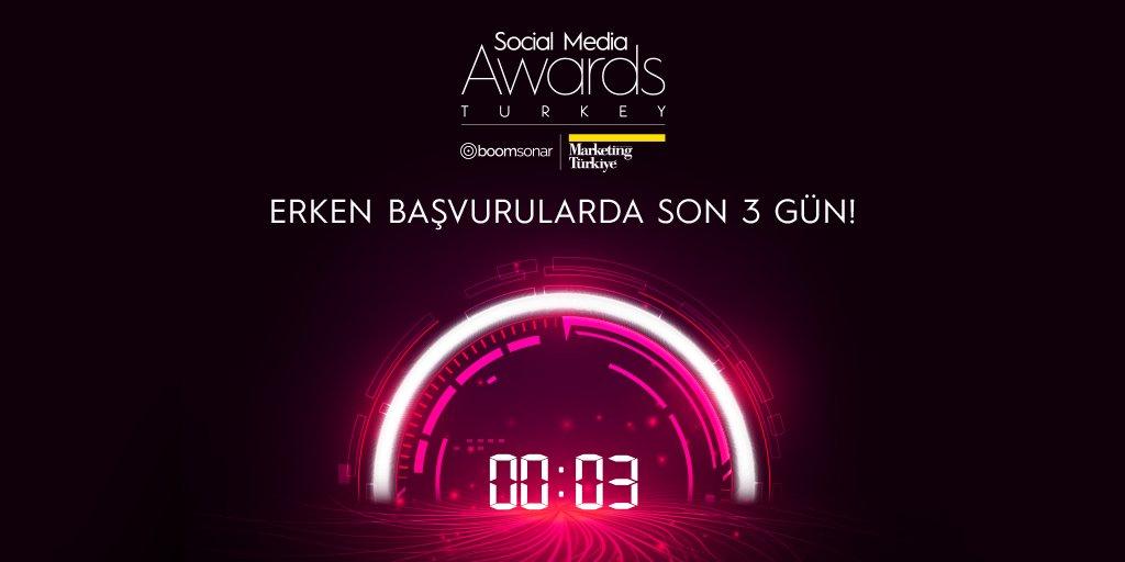 Erken başvuru avantajlarını kaçırmamak için acele edin! Social Media Awards Turkey erken başvuru dönemi 28 Şubat saat 23.59'da sona eriyor.  Başvuru adresi:   #SMAT2021 #sosyalmedya #dijitalmedya #SocialMediaAwardsTurkey