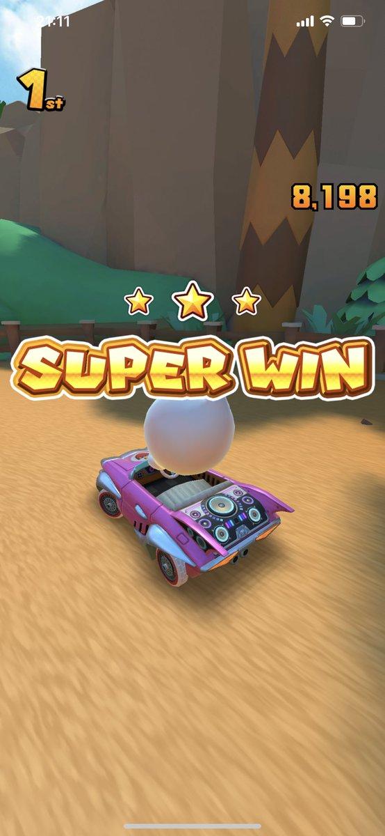 test ツイッターメディア - SUPER WIN 1回目3連勝した途端通信エラーでやり直した!  エラー出た時キレそうになったけど系8レースで2回3連勝終わったから上々です!  #マリオカートツアー https://t.co/JMDbwPrwpp