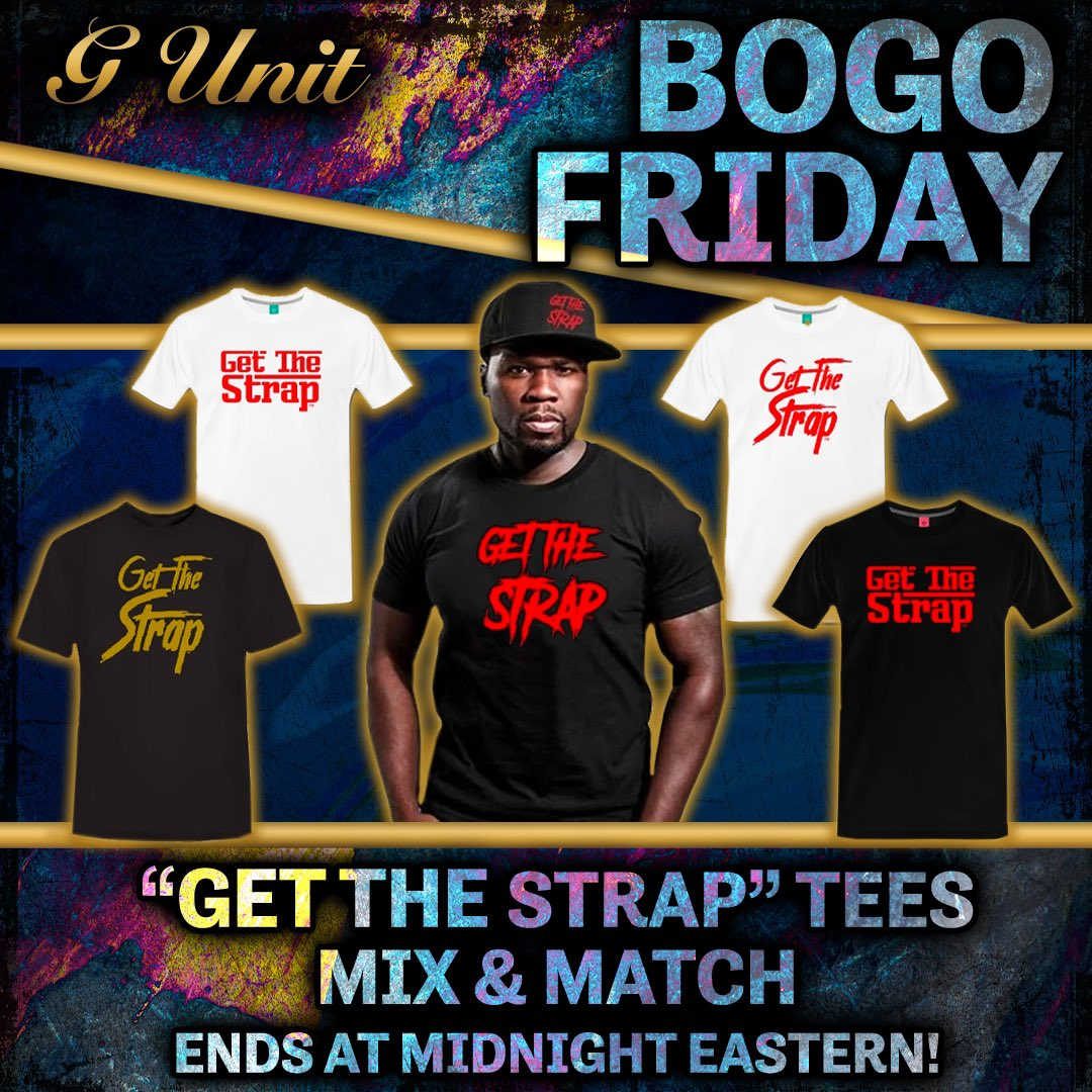 Buy One, Get One Free on all 'Get The Strap' tees! Today Only, Shop Now •