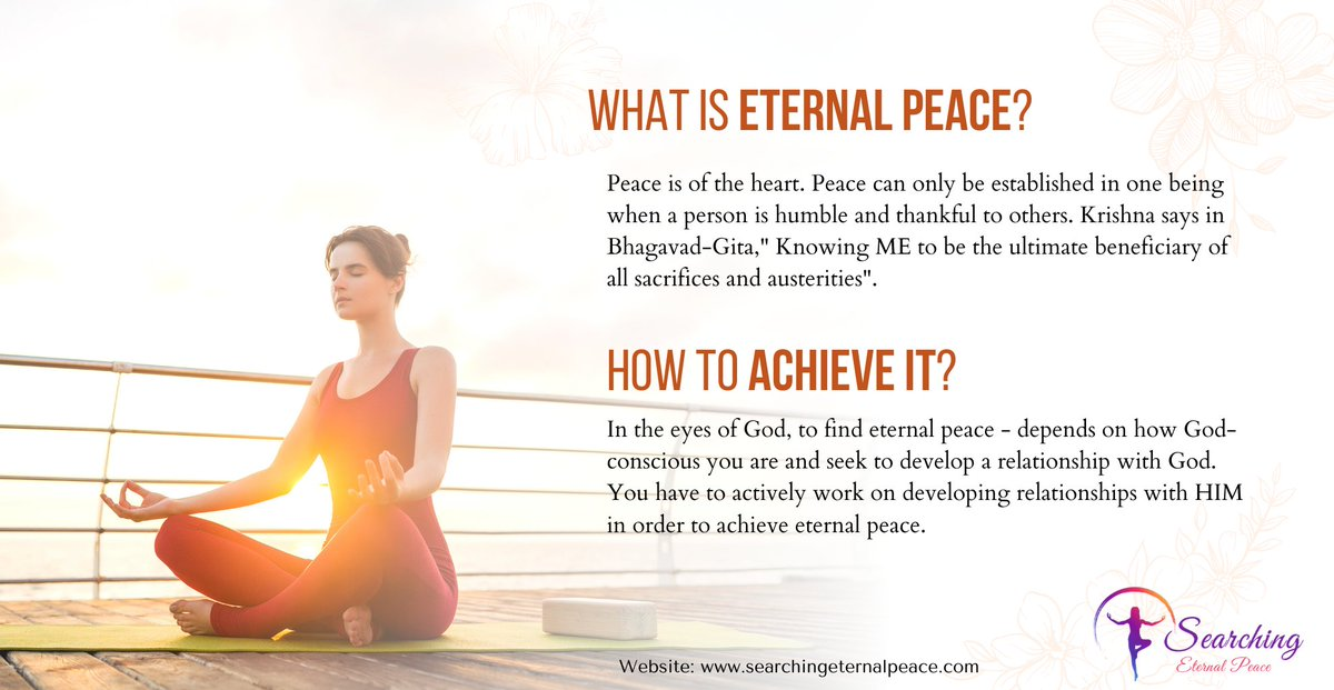 How to Achieve Eternal Peace in Life    #eternalpeace #spiritual #community #peaceofmind #mindful #meditation #peaceful #yoga #spirituality #peaceandlove #mindbodysoul #eternal #god #believeinyourself