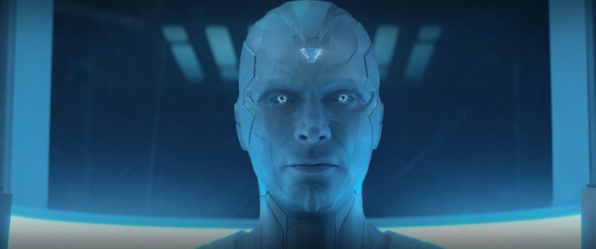 #WandaVision   I think the white Vision is going to be the voice actor for Ultron.