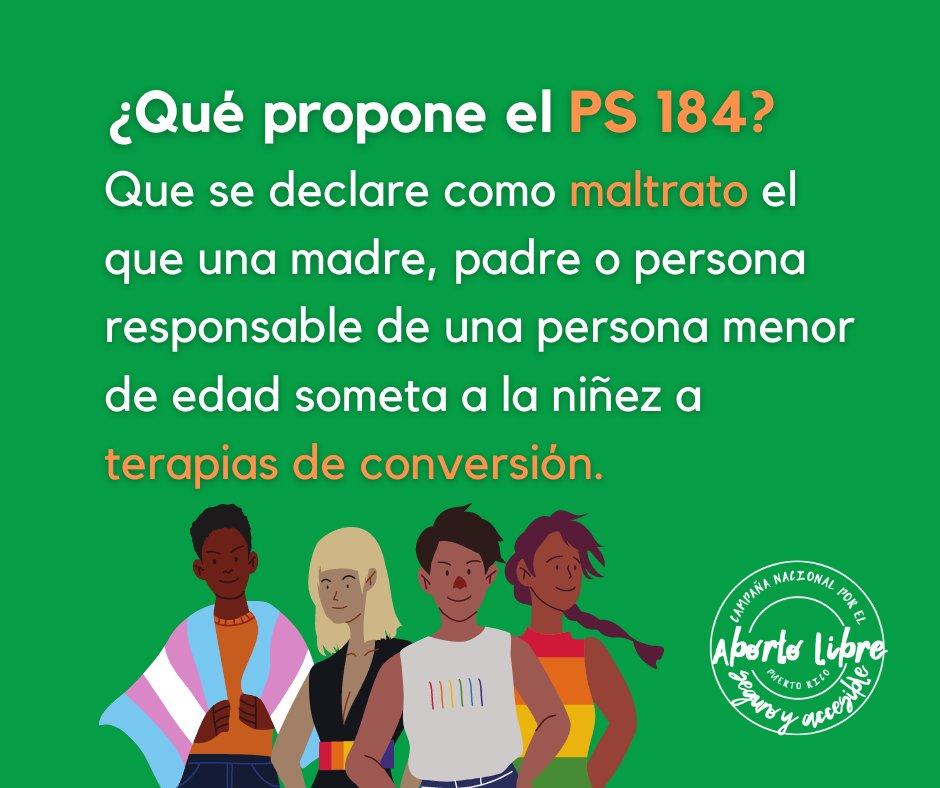El PS184 plantea que las #TerapiasDeConversion son manifestacones de maltrato de personas adultas contra menores.  2/8